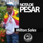 Nota de Pesar pelo falecimento de Milton Sales, presidente do Sindicato de São Félix